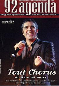 Julien Clerc fait la couverture dans Tout Chorus en 2002