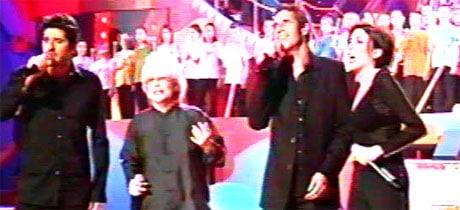 Julien Clerc chante avec Patrick Fiori, Catherine Lara et Liane Foly