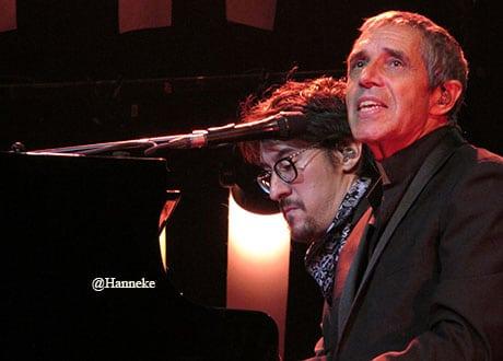 Concert de Julien Clerc en Hollande avec Benjamin Constant
