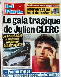 Julien Clerc en couverture d'Ici Paris