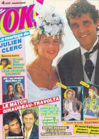 Julien Clerc et Virginie dans OK 23 septembre 1985