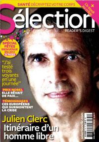 Julien Clerc dans le Reader Digest 774-du-26-novembre-2011