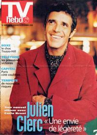 Julien Clerc dans TV Hebdo 2000