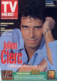 Julien Clerc dans TVHebdo 1997