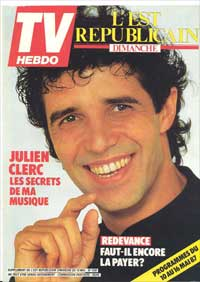 TV Hebdo 1987 avec Julien Clerc