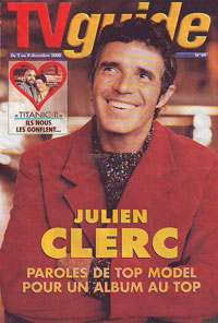 Julien Clerc fait la couverture de TV guide