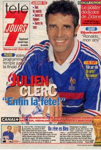 Julien Clerc dans Télé 7 jour 1998