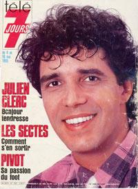 Julien Clerc dans Télé 7 Jours 1985