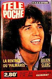 Julien Clerc sur Télé poche