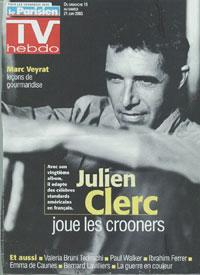 Julien Clerc fait la couverture de TV Hebdo 2003