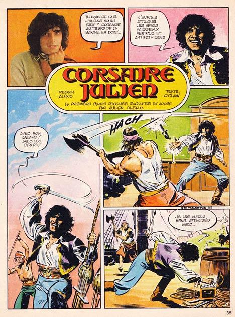 Première planche de la BD Corsaire Julien publiée dans Pif Gadget