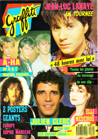 Julien Clerc dans Graffiti 1985
