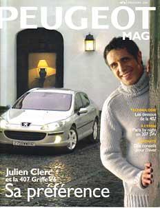 Couverture de Peugeot Mag avec Julien Clerc