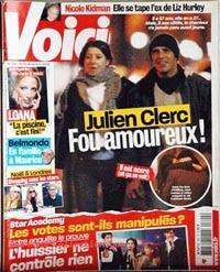Julien Clerc dans Voici