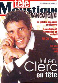 Julien Clerc fait la couverture de Telemoustique