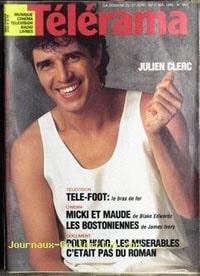 Julien Clerc en couverture de Telerama