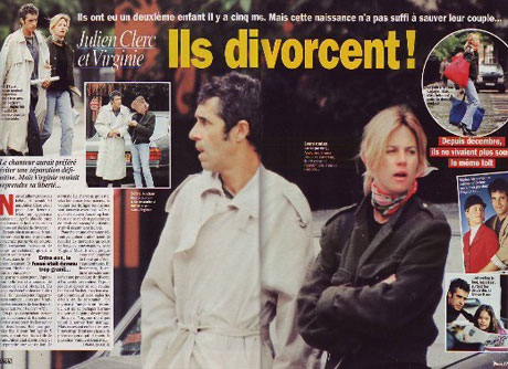 Julien Clerc et Virginie Couperie divorcent
