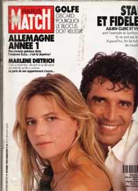 Julien Clerc et Virginie � l'honneur dans Paris Match