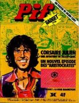 """Couverture de Pif Gadget annonçant la nouvelle BD """"Corsaire Julien"""""""