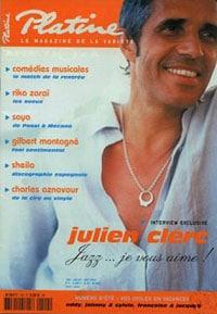 Julien Clerc fait la couverture de Platine