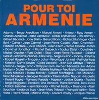 """Pochette du disque """"pour toi Arménie"""""""