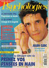 Julien Clerc dans le magasine Psychologie