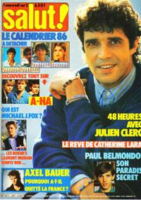 Julien Clerc dans Salut n° 267 1985
