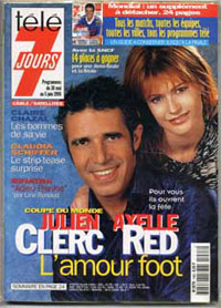 Julien Clerc et Axelle Red dans tele7jours en 1998