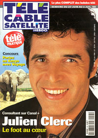 Julien Clerc fait la couverture de Tele Cable Satellite
