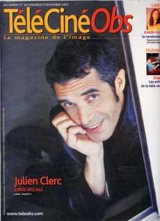 Julien Clerc fait la couverture de Télé Ciné Obs