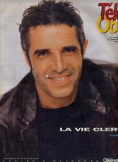 Julien Clerc faisant la couverture Télé Ciné Obs