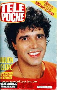 Julien Clerc dans Télé Poche 1985
