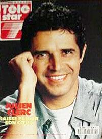 Julien Clerc fait la couverture de Tele Star