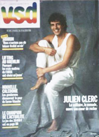 Julien Clerc en couverture de VSD