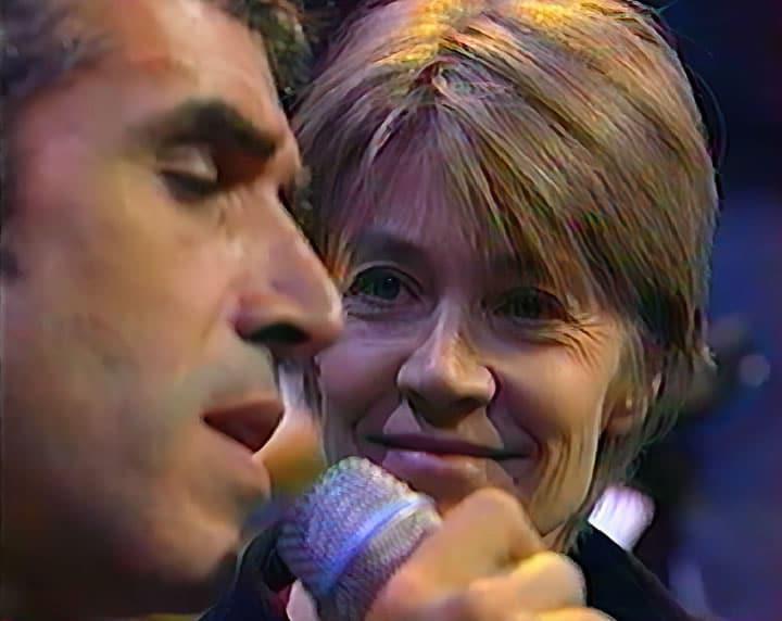 Françoise Hardy et Julien Clerc au Palais des sports